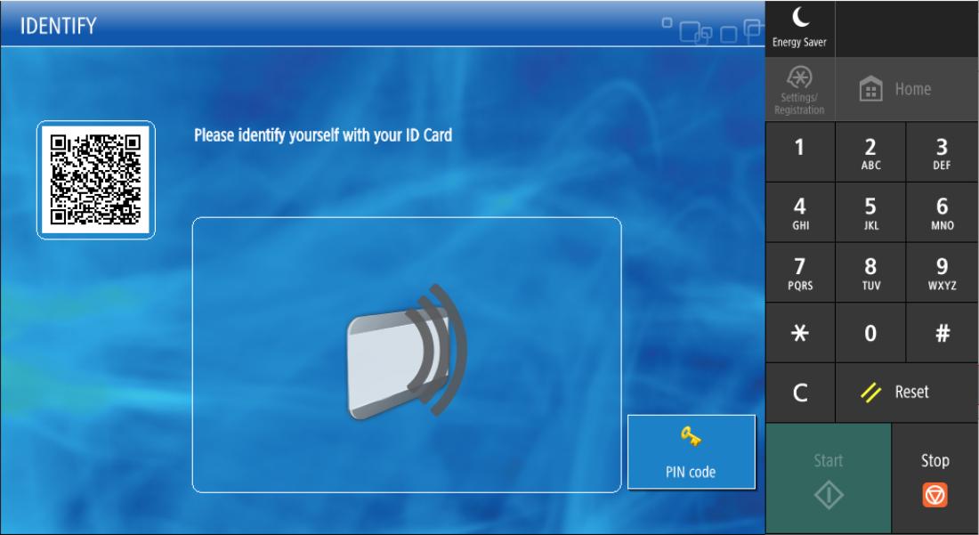 UniFLOW secure login screen